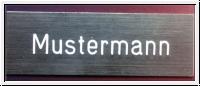 Namensschild für Briefkasten, Tür, Klingel-Gravurschild 10