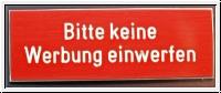 Briefkastenschild, Türschild Bitte keine Werbung einwerfen 8
