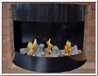 Gelkamin, Wandkamin, Metall-Ethanolkamin Bern black