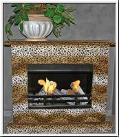 Gelkamin, Ethanol Kamin, Gel-Kamin Leopard