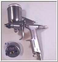 Mini Lackierpistole F-2  HLVP mit 0,3 mm Düse