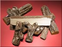 Dekoholz, Gelkamin-Holz, Holzscheite, Keramikholz 9teilig