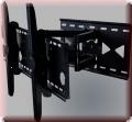 Wandhalterung B110L für PLASMA- & LCD Fernseher Schwarz 2 Strebe