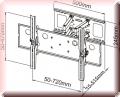 Wandhalterung B110M für PLASMA- & LCD Fernseher Schwarz 2 Strebe