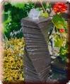 Wasserspiel, Springbrunnen, Wasserspeier, gedrehte Säule