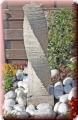 Springbrunnen, Wasserspiel gedrehte Säule aus Granit